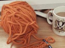 Beth Crochets Big Orange Hat